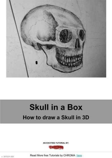 PDF Tutorial - How to Draw, Human Anatomy, Skull in a Box, How to draw a Skull in 3D