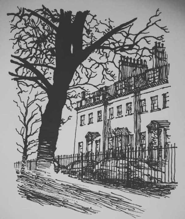 Eoin Ryan, Bath UK pen drawing