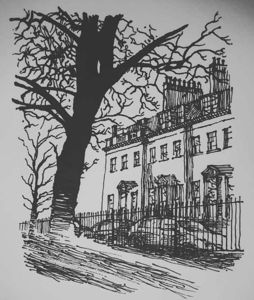 Eoin Ryan, Bath UK pen drawing