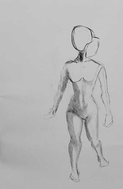 Iasonas Bakas Charcoal Female Figure drawing 4