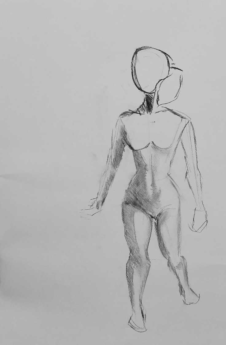 Iasonas Bakas Charcoal Female Figure drawing 4