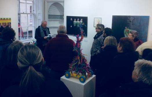 Presentation of deviation street magazine at 44AD Bath, UK