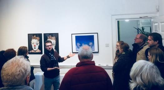 Iasonas Bakas presenting his work tabula rasa at the exhibition alter ego in 44AD Bath, UK