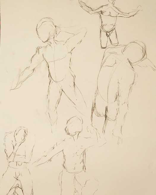 short life drawing poses charcoal, the curfew bath